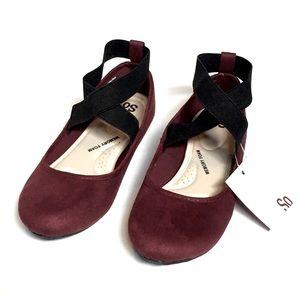 NEW Burgundy/Maroon Memory Foam Ballet Flats 6.5
